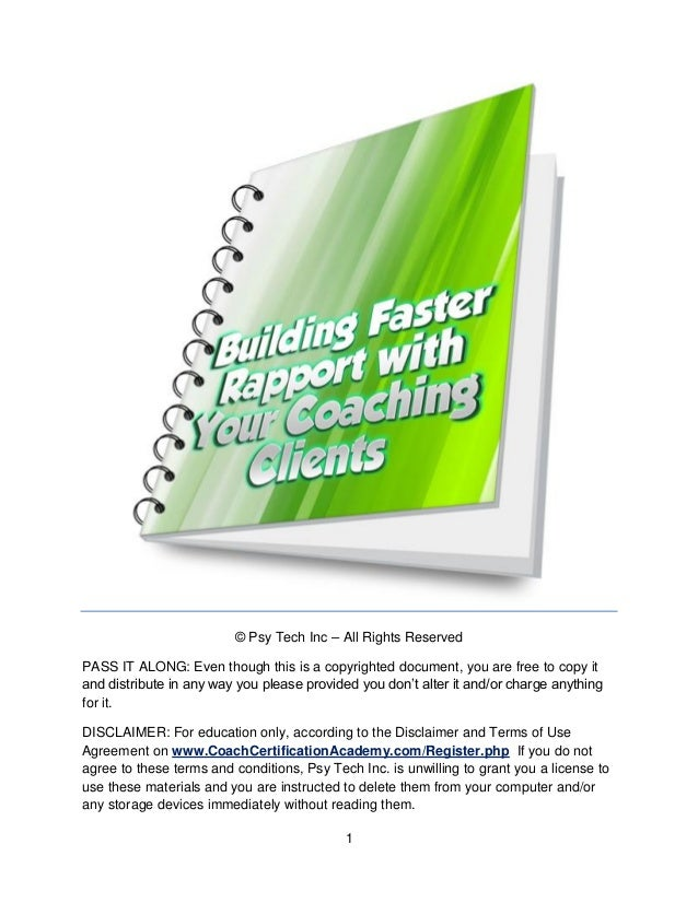 Building Faster Rapport With Coaching Clients