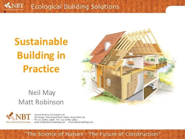 Neil May Matt Robinson  Sustainable Building in Practice