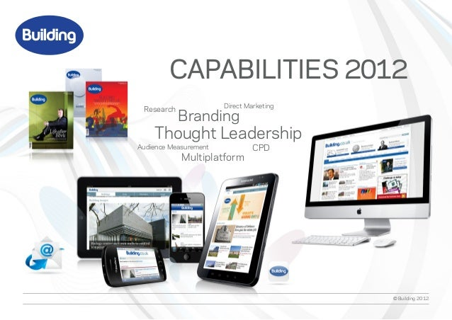 CAPABILITIES 2012 Research              Direct Marketing            Branding    Thought LeadershipAudience Measurement    ...