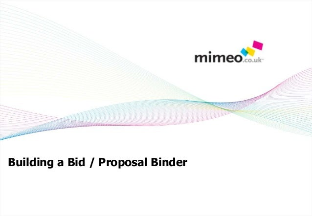 Building a Bid / Proposal Binder