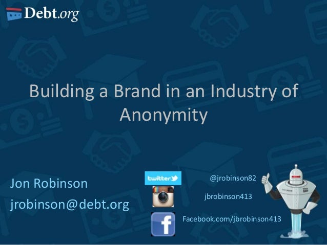 Building a Brand in an Industry of Anonymity - AFSLR 2013