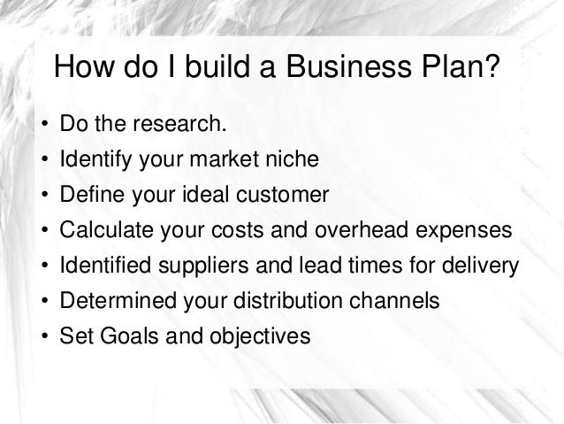 How to do a bussiness plan