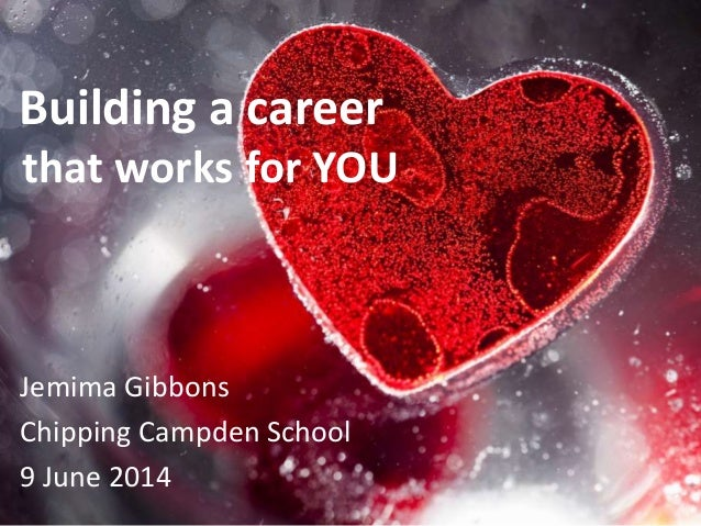 Building a career that works for YOU Jemima Gibbons Chipping Campden School 9 June 2014