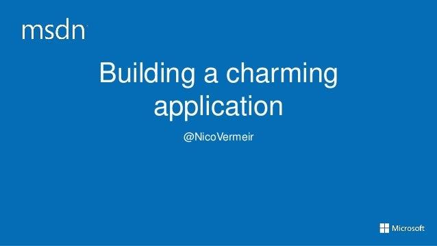 Building a charming Windows 8 app