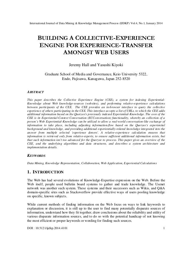 Building a collective experience