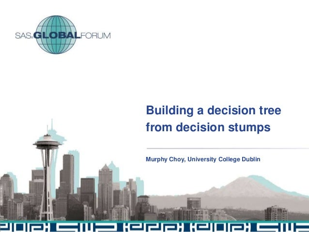 Building a decision tree from decision stumps