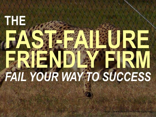 THE FAST-FAILURE FRIENDLY FIRM FAIL YOUR WAY TO SUCCESS http://www.flickr.com/photos/geyring/