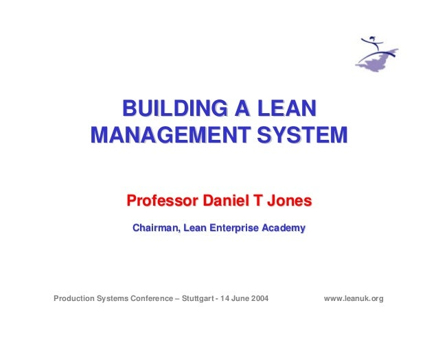 Building a Lean Management System