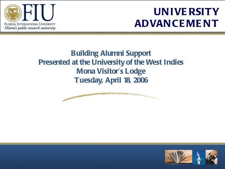 Building alumni support uwi presentation