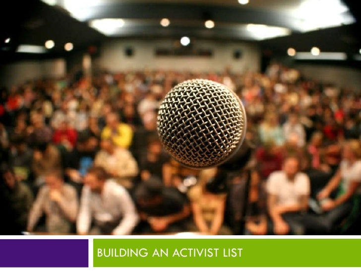 Building an Activist List