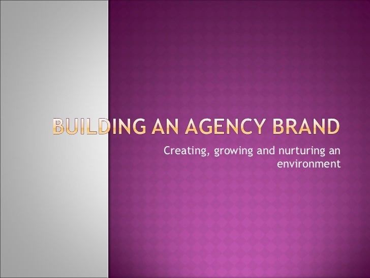 Building An Agency Brand