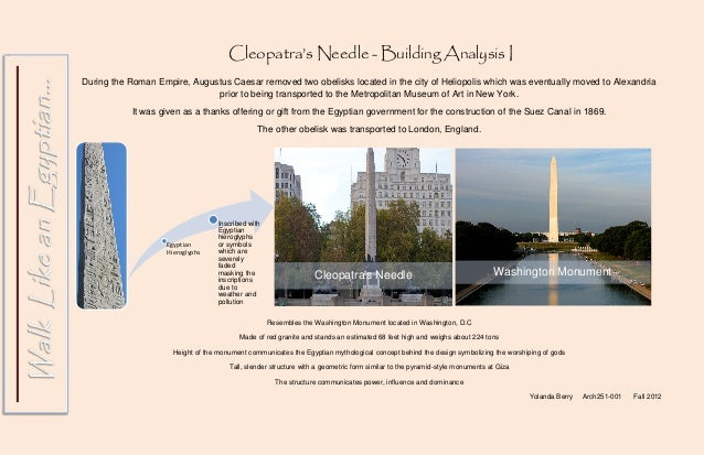 Cleopatra's Needle vs. The Temple of Dendur
