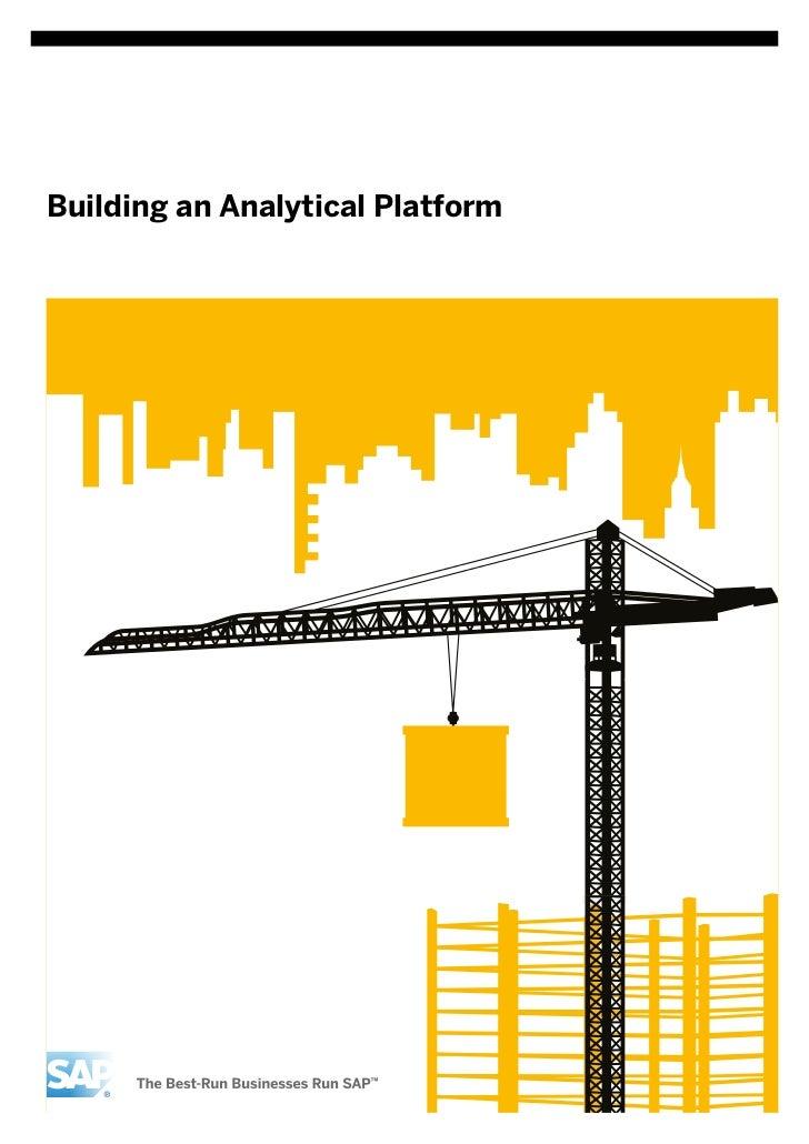 Building an analytical platform