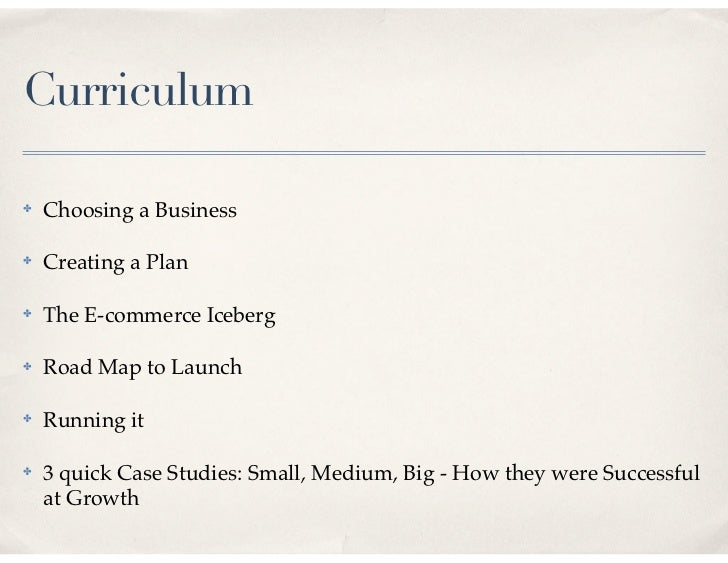 Building an ecommerce business plan