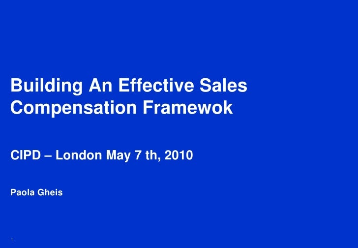 Building An Effective Sales Compensation Framework