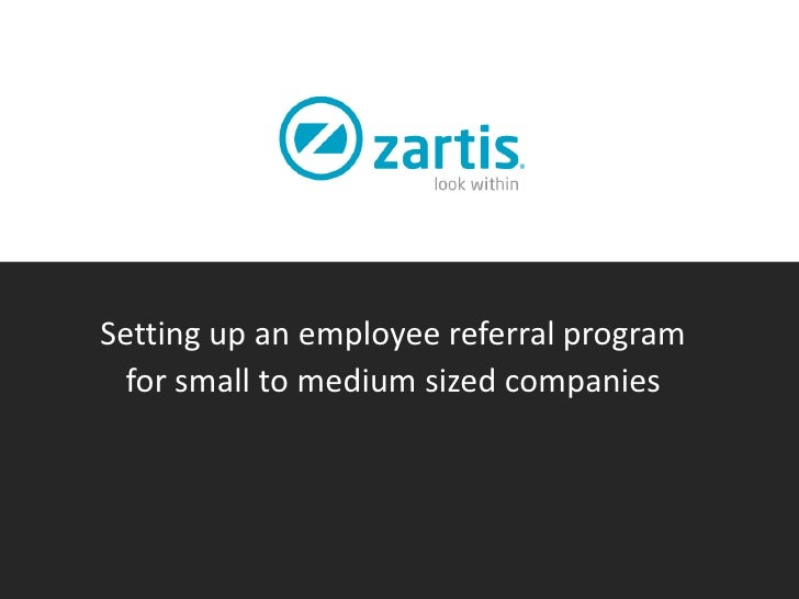 Setting up an employee referral program  for small to medium sized companies
