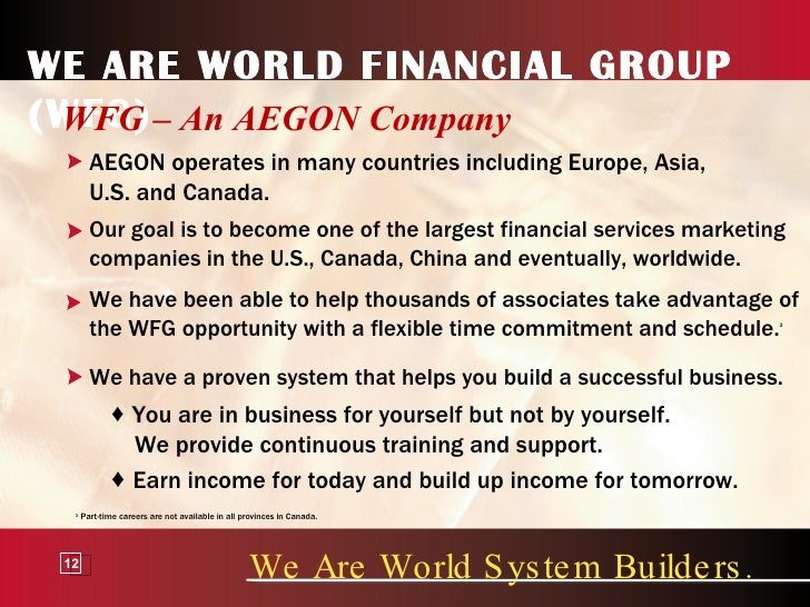 World Financial Group Building we Are World Financial Group