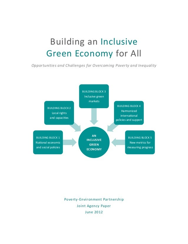 Building an inclusivise green economy for all