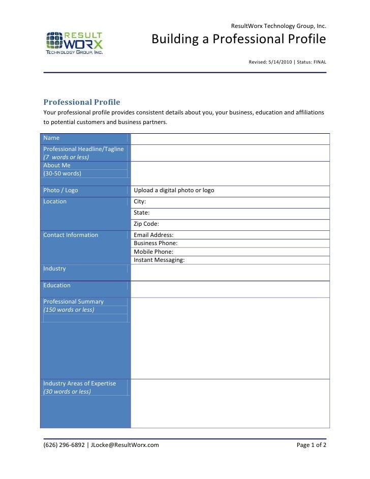 Building a Professional Online Profile
