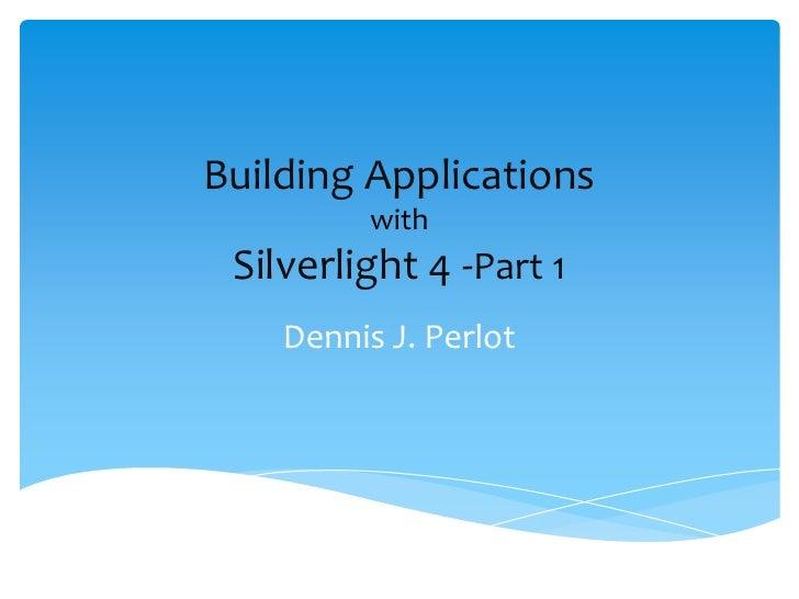 Building appsinsilverlight4 part_1