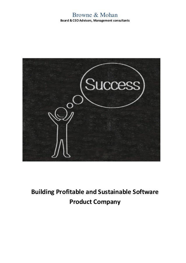 Building a Profitable, Sustainable Product Company