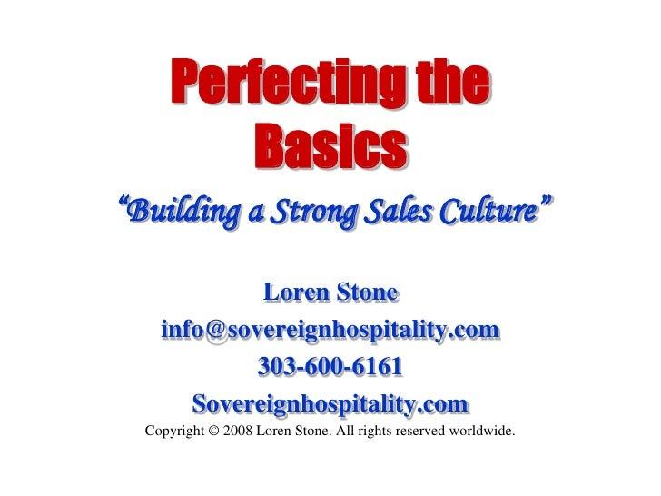 Building a Sales Culture
