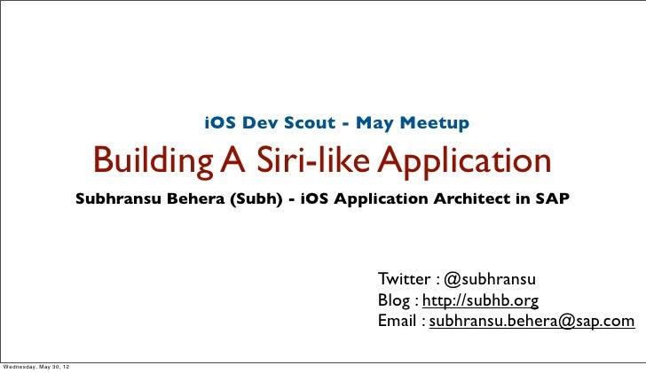 Building a Siri Like Application on iOS
