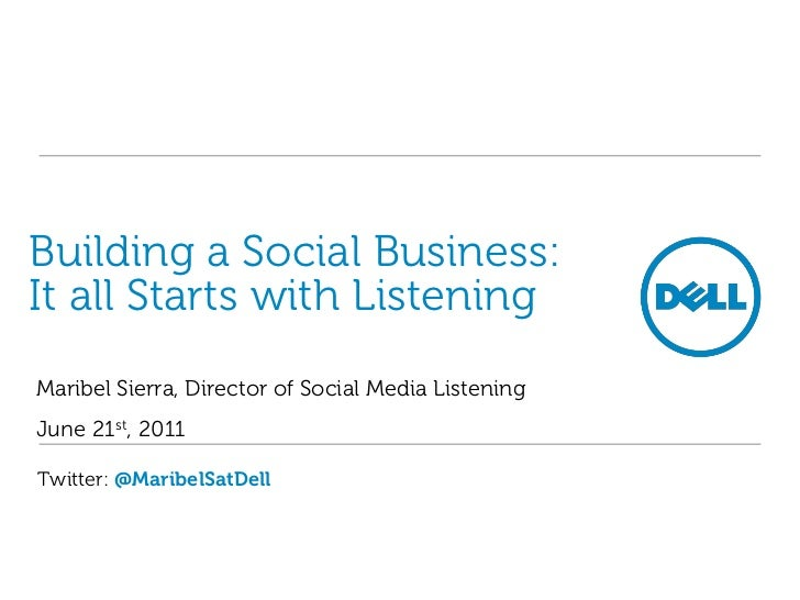 Building a Social Business: It all Starts with Listening