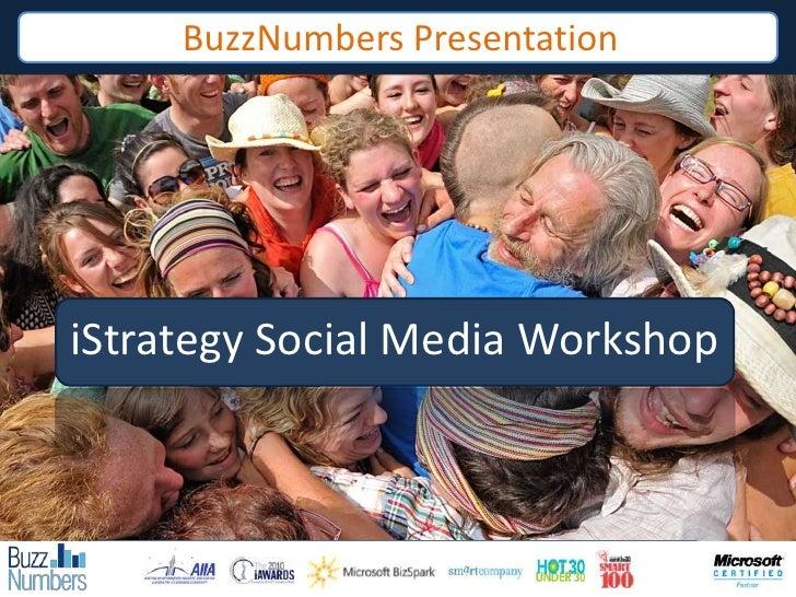 BuzzNumbers Presentation<br />iStrategy Social Media Workshop<br />