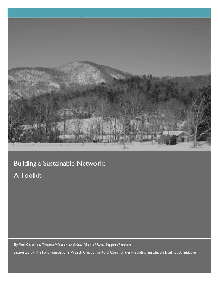 Building a sustainable network   a toolkit
