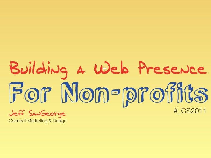 Building a Strategic Web Presence for Non Profits