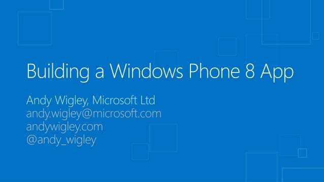 Getting Started with Windows Phone App Development