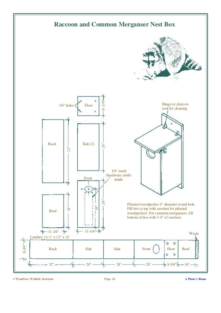 Building Nesting Boxes And Platforms