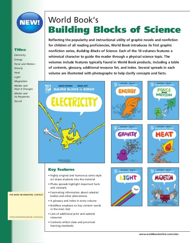 Building Blocks of Science Books Kids Science Books by World Book