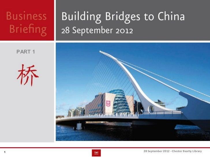 TMF Group - Building bridges to china: part 1