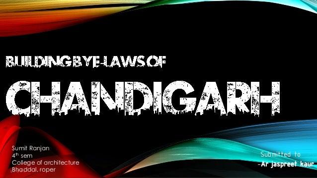 Building Bye-Laws of Chandigarh