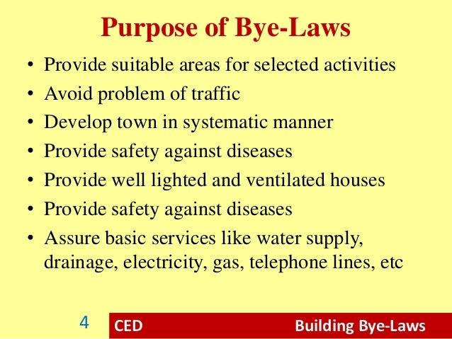 Purpose of Engineering Drawings Ced Building Bye-laws Purpose