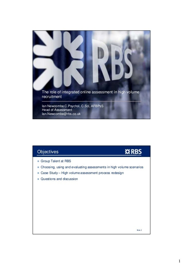Building Capability 2013 - Ian Newcombe RBS