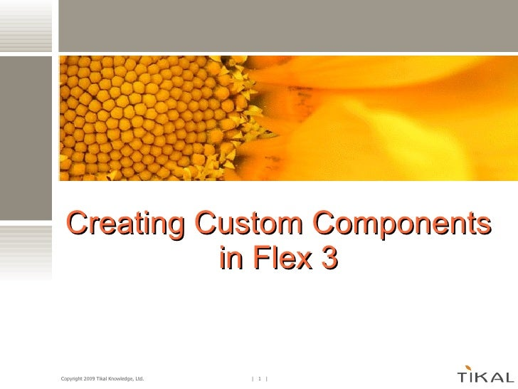 Building Components In Flex3