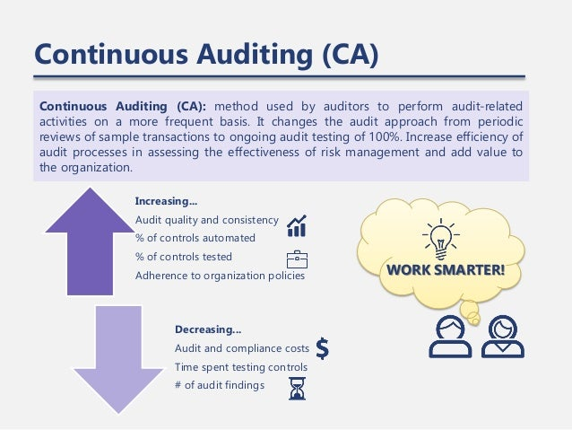Building Continuous Auditing Capabilities