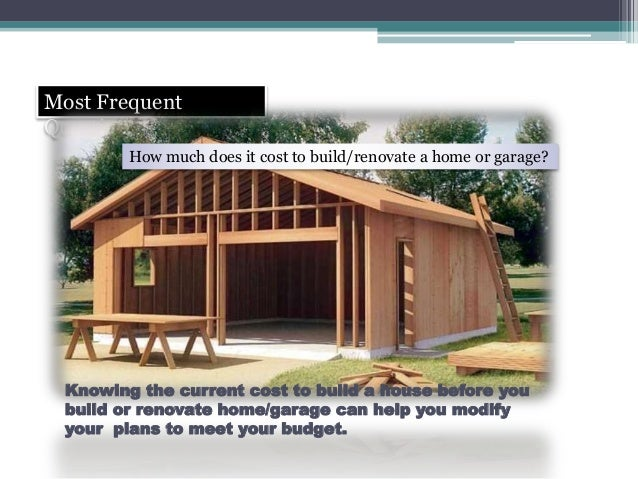 Garage building cost estimator home design for Estimate home building cost