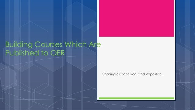 Building COETC Courses to Move to OER