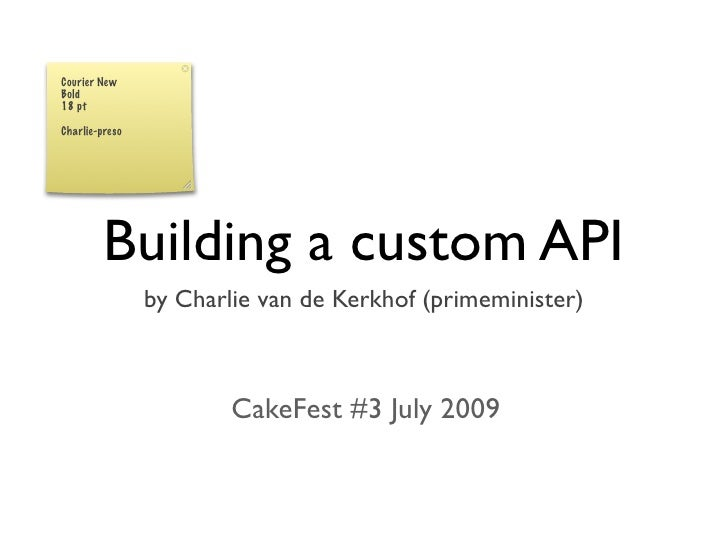 Building custom APIs