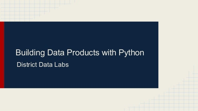 Building Data Apps with Python