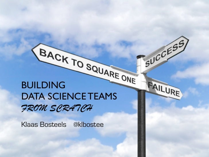 BUILDINGDATA SCIENCE TEAMSFROM SCRATCHKlaas Bosteels @klbostee