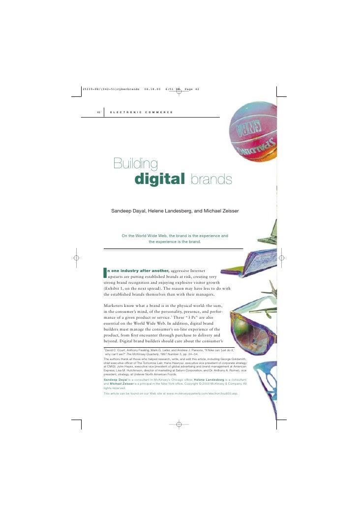 42       E L E C T R O N I C        C O M M E R C E            Building                            digital brands         ...