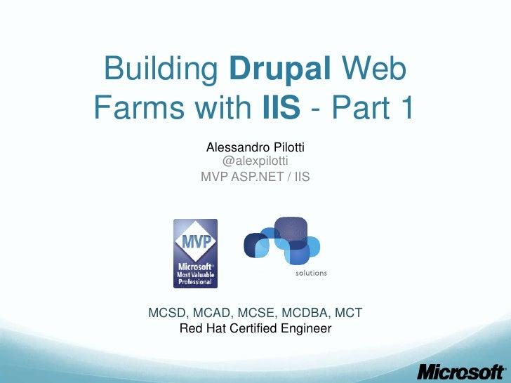 Building drupal web farms with IIS - part 1