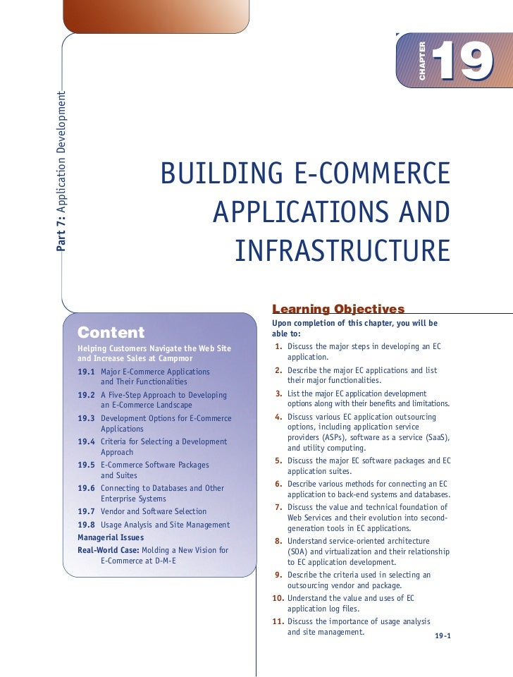 chapter 1 e commerce Chapter 1: introduction to e-business for use with strategic electronic marketing: managing e-business  chapter 6 e-business and e-commerce chapter 6 chapter .