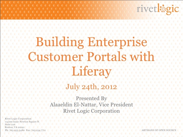 Building Enterprise Customer Portals With Liferay