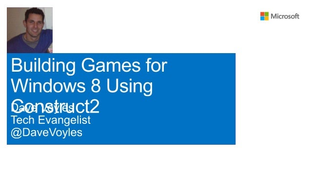 Building games for windows using construct2
